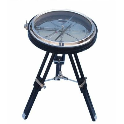 Compass End Table Color: Chrome/Black