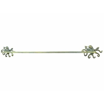 Petra Octopus Bath Towel Holder Finish: Antique Seaworn Bronze