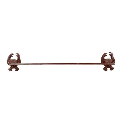 Crab Bath Towel Holder Finish: Rustic Red