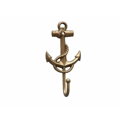 Withams Anchor and Rope Wall Hook Finish: Antique Brass
