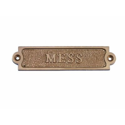 Mess Wall D�cor Finish: Antique Brass