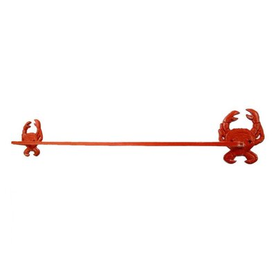 Blacksmith Crab Bath Towel Holder Finish: Rustic Red Whitewashed