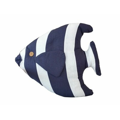 Tropical Fish Pillow Color: Blue