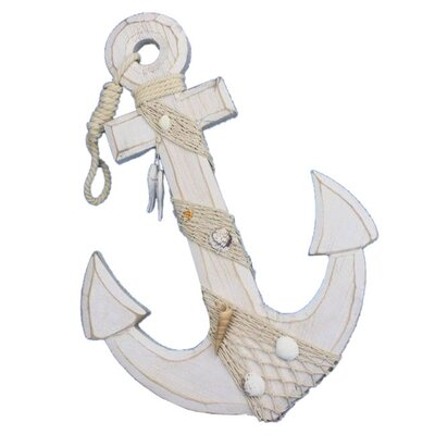 Woodby Decorative Anchor Hook Rope and Shells