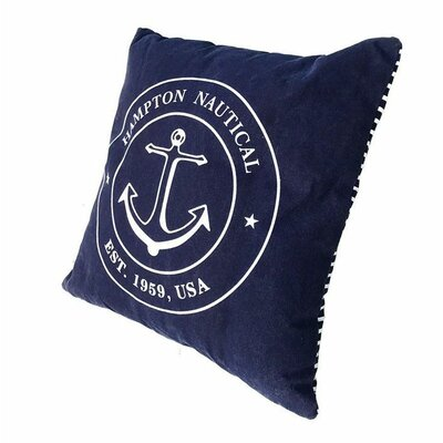 Woll Hampton Nautical Throw Pillow Color: Blue