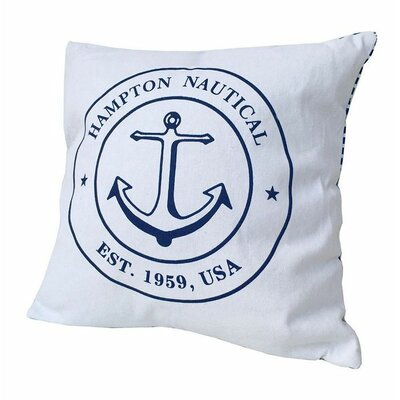 Woll Hampton Nautical Throw Pillow Color: White