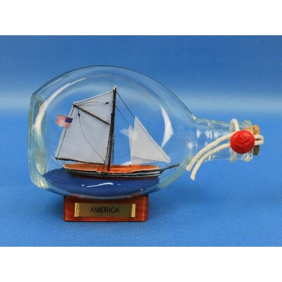 America Sail Model Ship in a Bottle