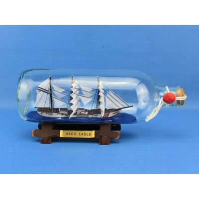 USCG Eagle Model Ship in a Bottle