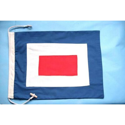 Letter W Cloth Nautical Alphabet Flag Wall Décor