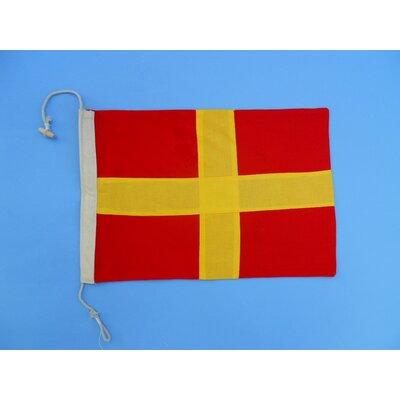 Letter R Cloth Nautical Alphabet Flag Wall Décor