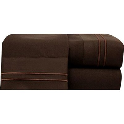 Bellissimo Sheet Set Size: King, Color: Chocolate