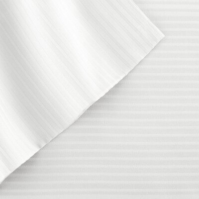4 Piece 400 Thread Count Sheet Set Color: White, Size: Queen