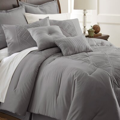 Lucretia 8 Piece Comforter Set Size: Queen