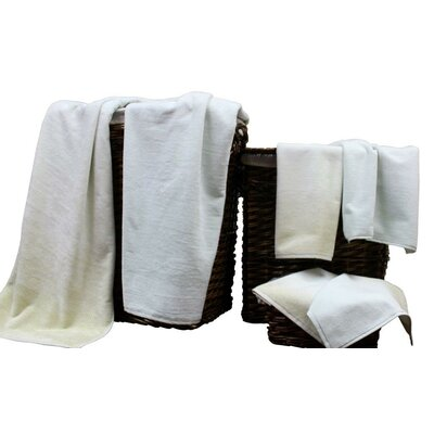 Yarn Dyed Jacquard 6 Piece Towel Set Color: Sand Shell