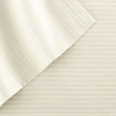 4 Piece 400 Thread Count Sheet Set Size: King, Color: Ivory