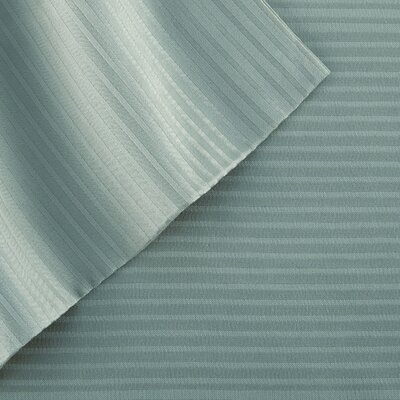 4 Piece 400 Thread Count Sheet Set Size: King, Color: Ocean Blue