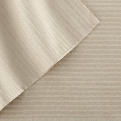 4 Piece 400 Thread Count Sheet Set Size: King, Color: Tan