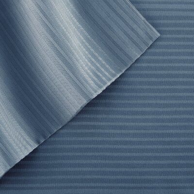 4 Piece 400 Thread Count Sheet Set Size: King, Color: Denim Blue