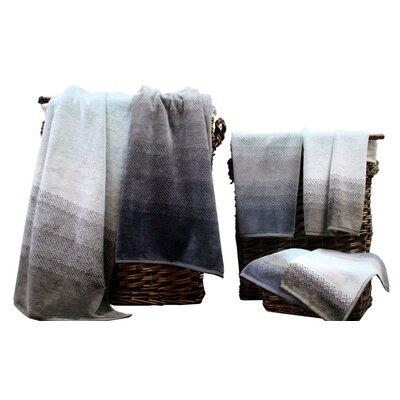 Colonial Textiles Yarn Dyed Jacquard 6 Piece 100% Cotton Towel Set