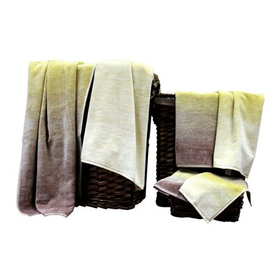 Yarn Dyed Jacquard 6 Piece Towel Set Color: Sand Dunes