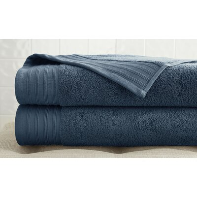 2 Piece Bath Towel Set Color: Denim