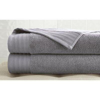 2 Piece Bath Towel Set Color: Gray Violet