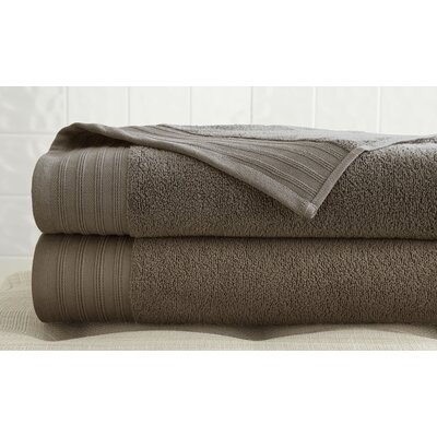 2 Piece Bath Towel Set Color: Mocha