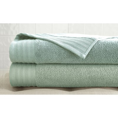 2 Piece Bath Towel Set Color: Soft Jade