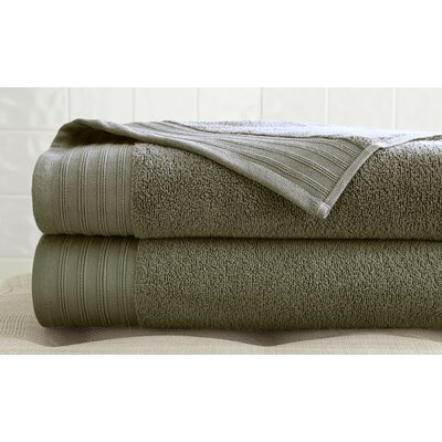 2 Piece Bath Towel Set Color: Taupe