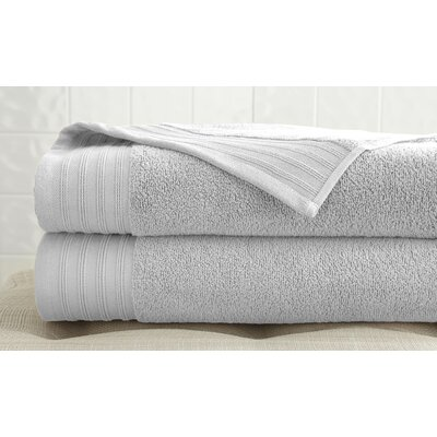 2 Piece Bath Towel Set Color: White