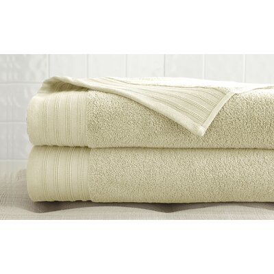 2 Piece Bath Towel Set Color: Ivory