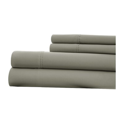1000 Thread Count 4 Piece Sheet Set Size: King, Color: Platinum