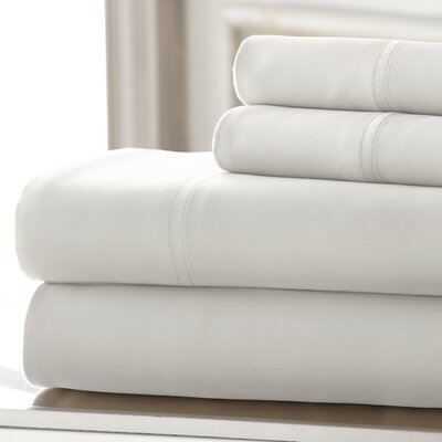 Mandalay 300 Thread Count Tencel Sheet Set Size: Queen, Color: White