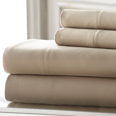 Mandalay 300 Thread Count Tencel Sheet Set Size: King, Color: Taupe