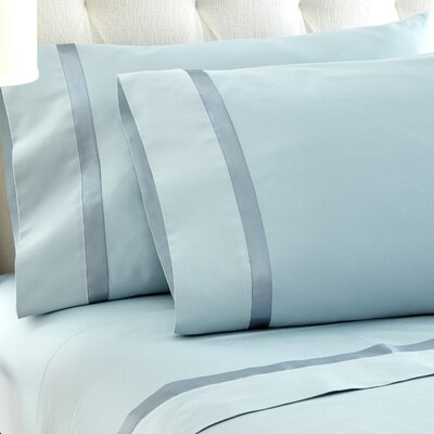 Fine Linens Sheet Set Size: King, Color: Blue