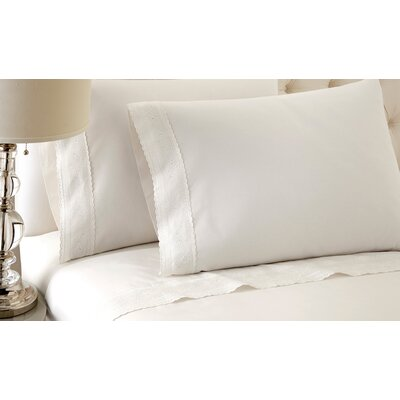 Sylvia Sheet Set Size: King, Color: White