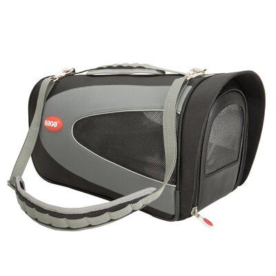 Argo Petascope Pet Carrier Size: Small (9.25 H x 10 W x 18 L), Color: Black