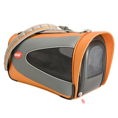 Argo Petascope Pet Carrier Size: Small (9.25 H x 10 W x 18 L), Color: Orange