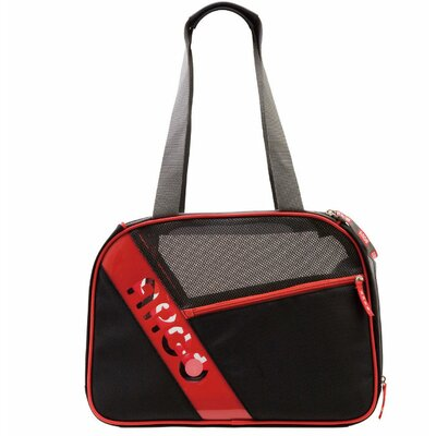 Argo City-Pet Medium Airline Approved Pet Carrier in Black with Red Trim