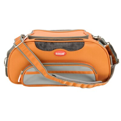 Argo Aero-Pet Airline Approved Pet Carrier Color: Orange, Size: Small (8.5 H x 10.5 W x 18.5 L)
