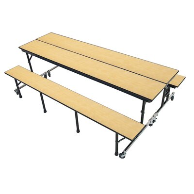Rectangular Cafeteria Table Table Top Finish: Rocky Mountain Maple, Size: 25