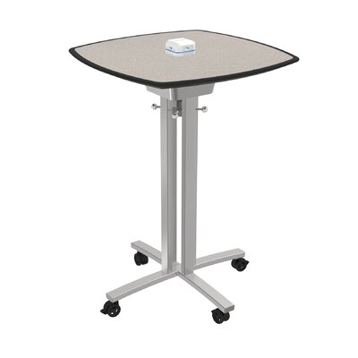 Square 42H x 30W x 30L Conference Table Top Finish: Gray Glace