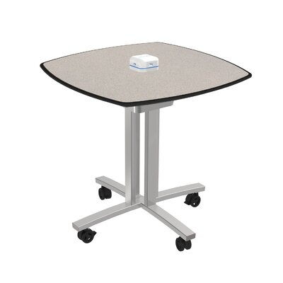 Square 29H x 30W x 30L Conference Table Top Finish: Gray Glace