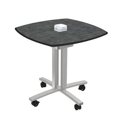 Square 29H x 30W x 30L Conference Table Top Finish: Brushed Pewter