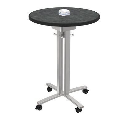 Circular 42H x 30W x 30L Conference Table Top Finish: Brushed Pewter