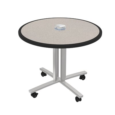 Circular 29H x 36W x 36L Conference Table Top Finish: Gray Glace