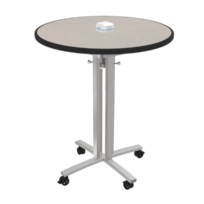 Circular 42H x 36W x 36L Conference Table Top Finish: Gray Glace