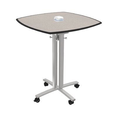 Square 42H x 36W x 36L Conference Table Top Finish: Gray Glace