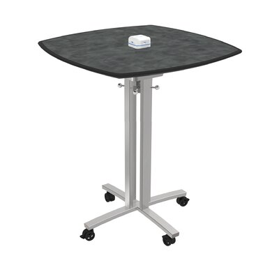 Square 42H x 36W x 36L Conference Table Top Finish: Brushed Pewter