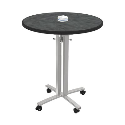 Circular 42H x 36W x 36L Conference Table Top Finish: Brushed Pewter